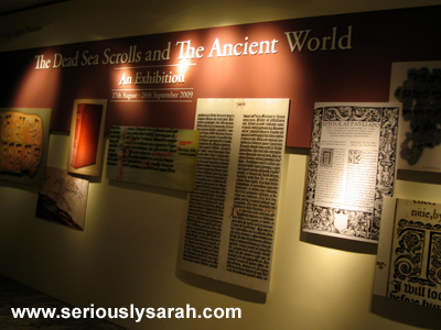 Dead Sea Scrolls Exhibition
