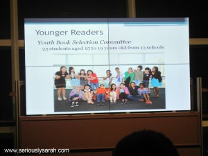 The panel for younger readers