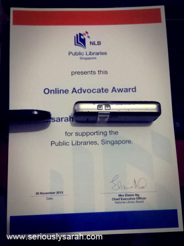 Online advocate award!