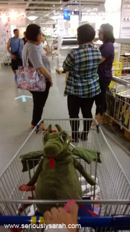 Shopping awaay in IKEA