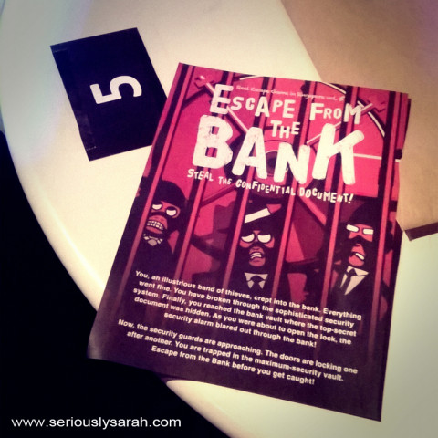 Escape from the Bank! poster