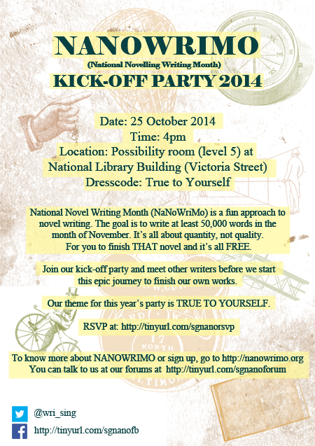 Nanowrimo Kick Off