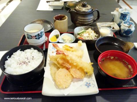 The tempura set