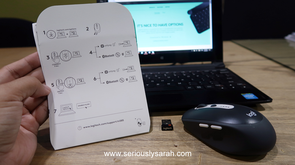 Logitech M585 mouse review! – Seriously Sarah