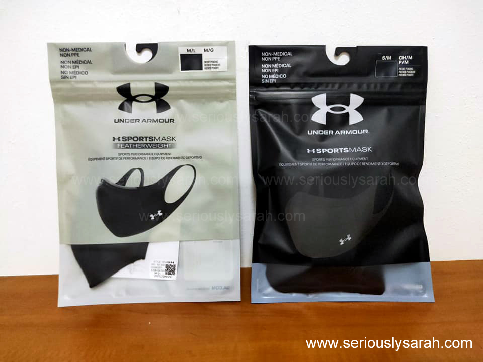 Under armour sports mask with Featherweight mask